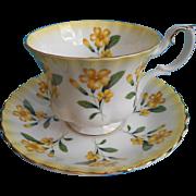 Primrose Royal Albert Cup Saucer Vintage Springtime Series Primroses
