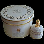 Lenox August Peridot Trinket Ring Box Birthstone Collection