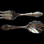 Frederick II Oneida Stainless Steel Vintage Serving Fork Spoon Set Servers