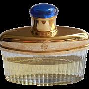 Vintage Victoria Eau De Cologne 1.7 Oz. Bottle Partially Full
