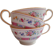 Royal Doulton Pink Demitasse 3 Cups Only Antique China E4630 The Charlotte