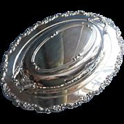 Silver Serving Dish Convertible Lid Vintage Oneida Royal Provincial
