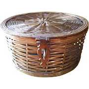 Brass Box Basket Woven Vintage Trinket Or Desk