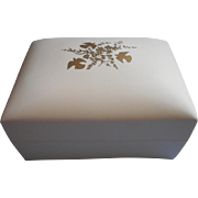 SOLD Vintage L'Air Du Temps Cosmetic Box Ivory Plastic Gold Vanity Nina Ricci