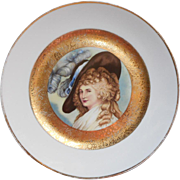 Rosenthal Portrait Plate Vintage China Gold 18 th Century French Lady