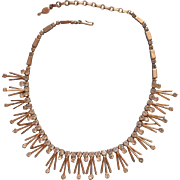 Spiky Vintage Sarah Coventry Necklace Rhinestone Tips Atomic