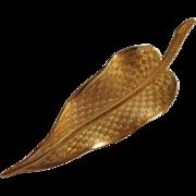 Vintage Hair Clip Leaf Shape Very Good Quality 1960s