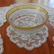 1920s Lace Finger Bowl Doilies Set 11 Roses Vintage Filet