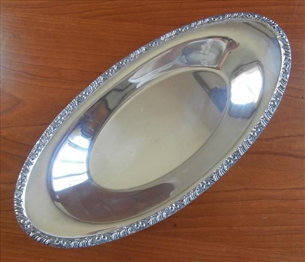 Silver Bread Tray Vintage Henley Pattern Oneida