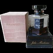 Balmain Jolie Madame Rare 2 Ounce Vintage Perfume Bottle  Box Glass Stopper
