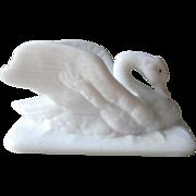 Atterbury Swan Figural Milk Glass Antique Lid