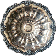 1830 Silver On Copper Bowl Antique Sheffield Surname Seelye Engraved