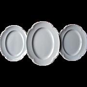 Greydawn Johnson Brothers England 3 Platters Platter Vintage China