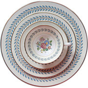 Wedgwood Woodstock 5 Piece Place Setting Bone China Plates Cup Saucer