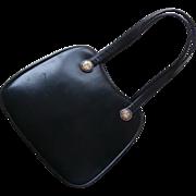 Enamel Portrait Buttons On Vintage Purse Late 1950s Handbag