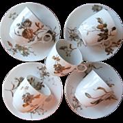 Haviland Limoges Demitasse Cups Saucers Antique French China TLC