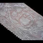 Filet Lace Net ca 1920 Pieces Lengths Vintage Trim