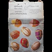 Honeycomb Hallmark Easter Egg Decorations Vintage Paper Set