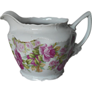 SOLD Milk Pitcher Antique China Pink Roses