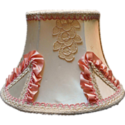 Headboard Lamp Vintage Lace Pink Ribbon Trim  Fabric Hooks Over