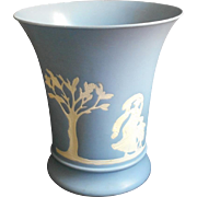 Plastic Wedgwood Wastebasket Vintage Plastiware Powder Room
