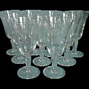 Footed Juice Stemware Glasses Vintage Wine Engraved Versatile Size Shape