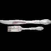 Galveston Stainless Oneida Vintage Dinner Knife Salad Fork