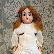 Antique Bisque Kestner  154  in Antique Dress