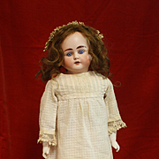 Antique Bisque Child Doll by Alt Beck and Gottschalk with a Turned Head