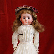 Antique Bisque Heubach Kopplesdorf  275  in Antique Dress