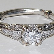 Ladies Platinum Ring, Vintage