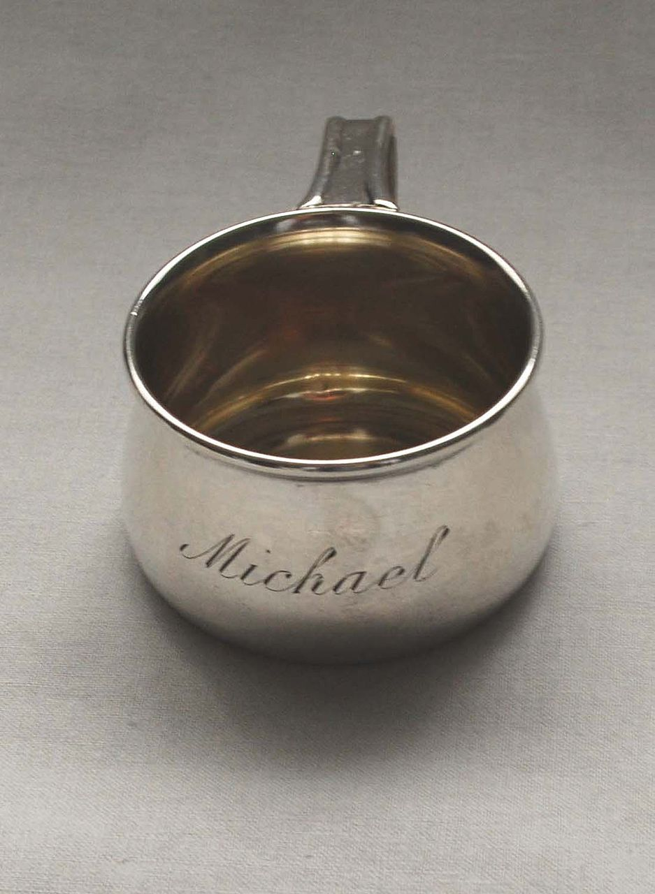Child's Juice Cup with Handle, Sterling Silver, Vintage