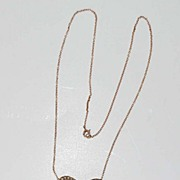Antique 10K Diamond and Pearl Pendant