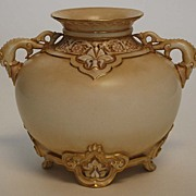 Antique Royal Worcester Porcelain Vase