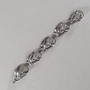 Sterling Silver Bracelet, Signed, Vintage