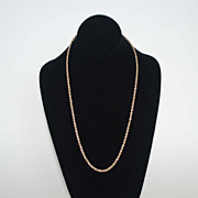 14K Gold Roped Chain, Vintage