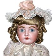 Vintage Posey Bonnet for French or German Bisque Head Doll
