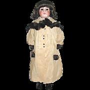 1/3 off Beautiful Vintage Mink Trimmed Coat for Large Doll