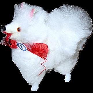White Fur Spitz West German Dog for Fashion Dolls and Dollhouse