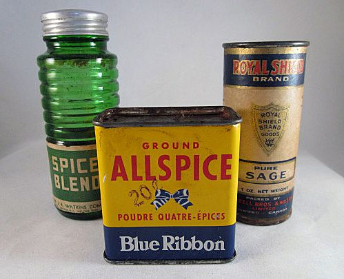 Vintage Group of 3 Advertising Spice Containers