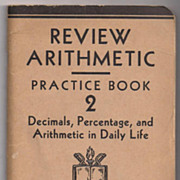 'Review Arithmetic Practice Book 2'  United States Armed Forces Institute paper back Book