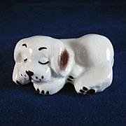 Walker Potteries California Sleeping Dog Figurine