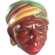 Brayton Laguna California Pottery Blackamoor Head Vase
