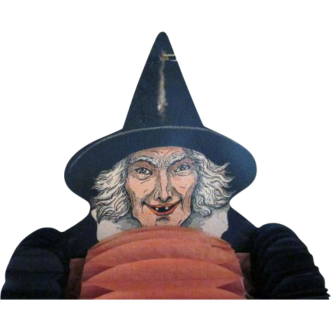 Early Beistle Witch Dancer Halloween Decoration