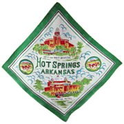 Hot Springs, Arkansas Souvenir Silk Scarf