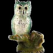 Hubley Cast Iron Owl Pencil Holder