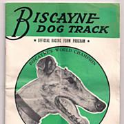 Biscayne Dog Track Official Racing Form Program 1952