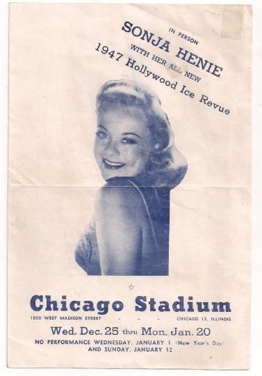 Sonja Henie 1947 Ice Revue Pre-Order Form Chicago