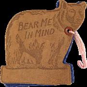 Figural Bear Needle Book Souvenir