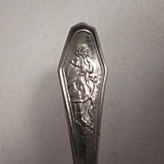Early Little Red Riding Hood Stamped Steel Toy Spoon Have 2